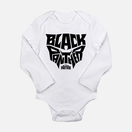Black Panther Logo Long Sleeve Infant Bodysuit
