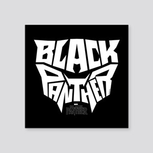 "Black Panther Logo Square Sticker 3"" x 3"""