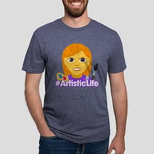Hashtag ArtisticLife Mens Tri-blend T-Shirt
