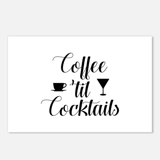 Coffee Til Cocktails Postcards (Package of 8)