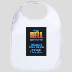 Hell Freezes - Wisconsin Baby Bib