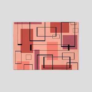 Retro Mid-Century Modern Art 5'x7'Area Rug
