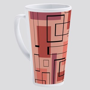 Retro Mid-Century Modern Art 17 oz Latte Mug