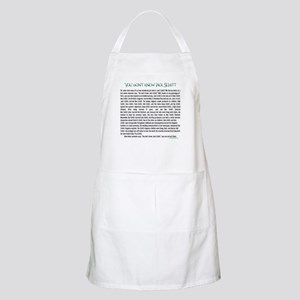 YOU DON'T KNOW JACK SHITT BBQ Apron