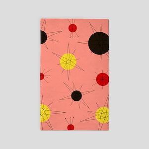 Atomic Era Art (Orange) Area Rug