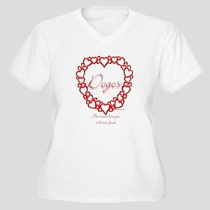 Dogo True Women's Plus Size V-Neck T-Shirt