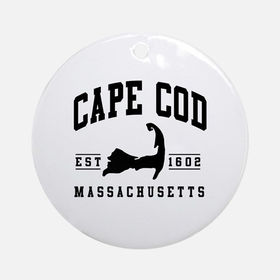Cute Cod Round Ornament
