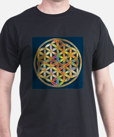 Flower Of Life gold colored II T-Shirt