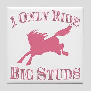 Big Studs - Bucking - Pink Tile Coaster