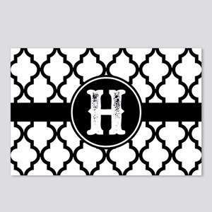 Black Monogram: Letter H Postcards (Package of 8)