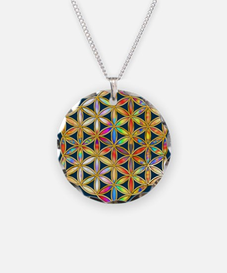 Flower Of Life gold colored Necklace