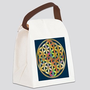 Flower Of Life gold colored II Canvas Lunch Bag