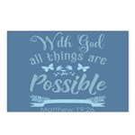 With God Postcards (Package of 8)