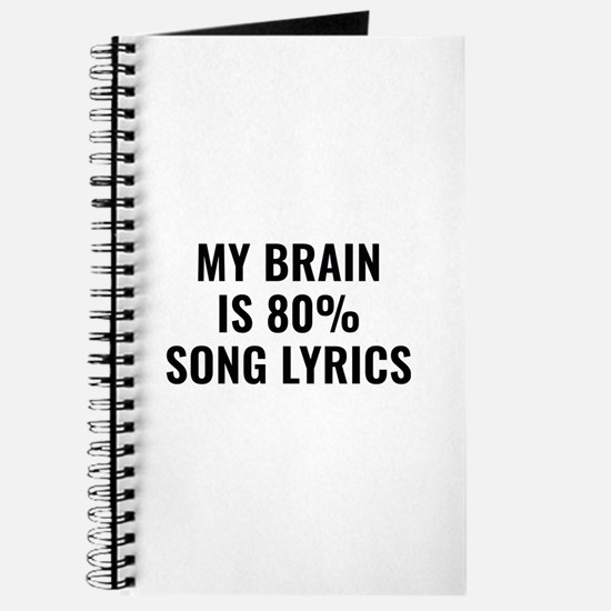 My Brain Is 80 Percent Song Lyrics Journal
