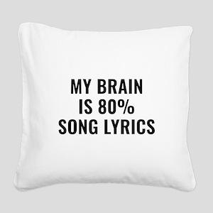 My Brain Is 80 Percent Song Lyrics Square Canvas P