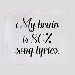 My Brain Is 80 Percent Song Lyrics Stadium Blanket