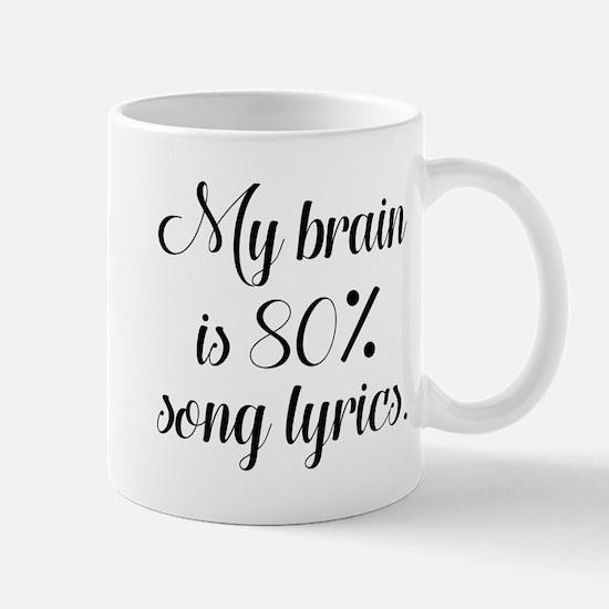 My Brain Is 80 Percent Song Lyrics Mug