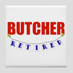 Retired Butcher Tile Coaster