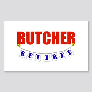 Retired Butcher Rectangle Sticker