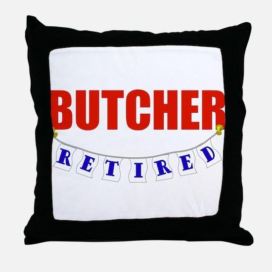 Retired Butcher Throw Pillow