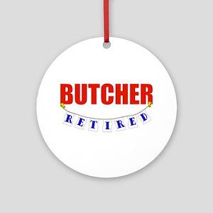 Retired Butcher Ornament (Round)