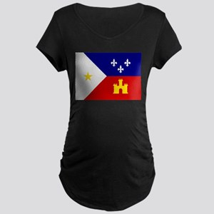 Flag of Acadiana Louisiana Maternity T-Shirt