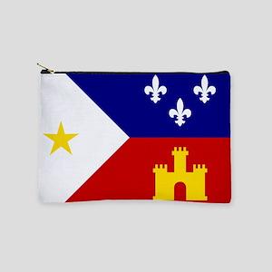 Flag of Acadiana Louisiana Makeup Bag