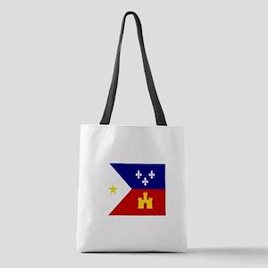 Flag of Acadiana Louisiana Polyester Tote Bag