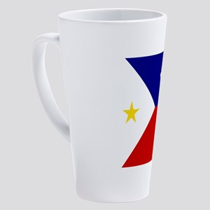Flag of Acadiana Louisiana 17 oz Latte Mug