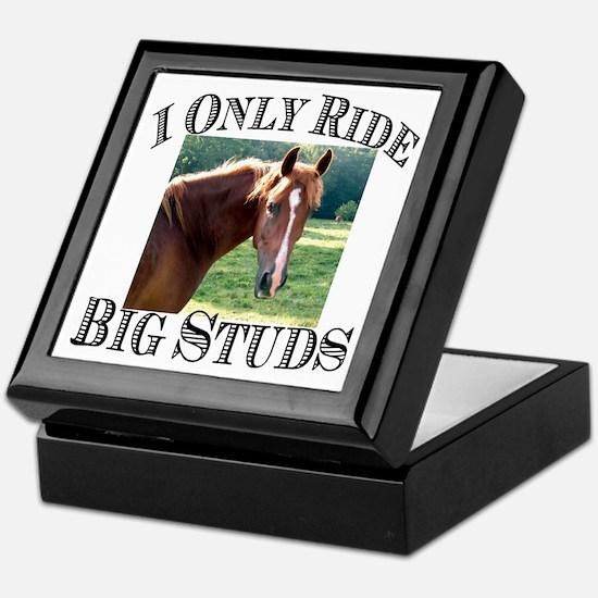 I Only Ride Big Studs (Photo) Keepsake Box
