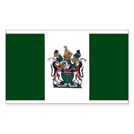 Rhodesian Flag Rectangle Sticker