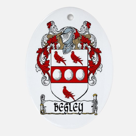 Begley Coat of Arms Ornament (Oval)