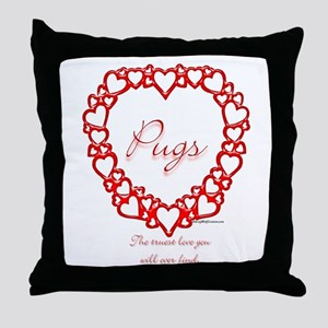 Pug True Throw Pillow