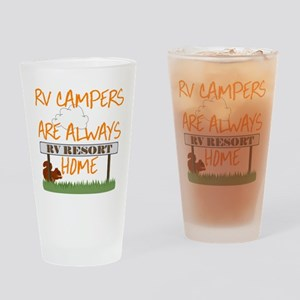 rv campers Drinking Glass