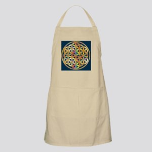 Flower Of Life gold colored II Light Apron