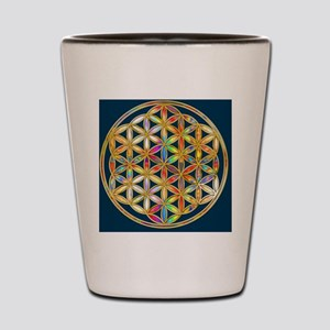 Flower Of Life gold colored II Shot Glass