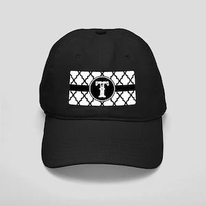Black Monogram: Letter T Black Cap with Patch