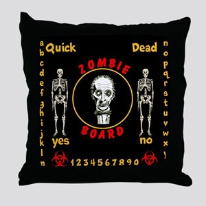 Zombie Board Throw Pillow