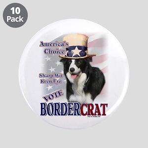 """BORDERcrat 3.5"""" Button (10 pack)"""