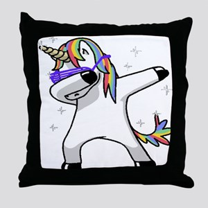 unicorn dabbing Throw Pillow
