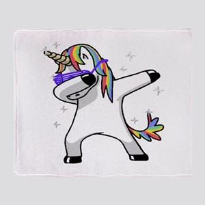 unicorn dabbing Throw Blanket