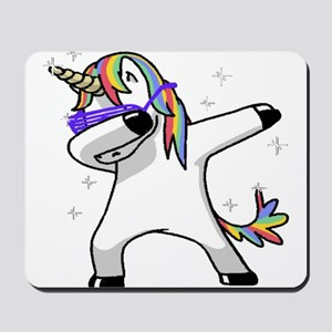 unicorn dabbing Mousepad