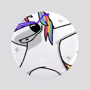 "unicorn dabbing 3.5"" Button"