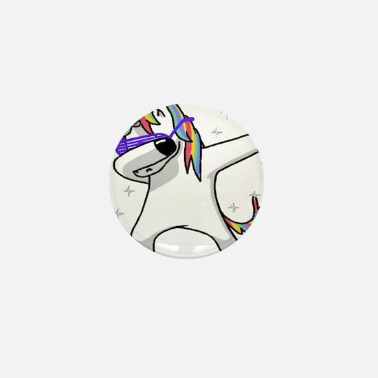 unicorn dabbing Mini Button