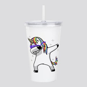 unicorn dabbing Acrylic Double-wall Tumbler