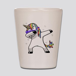 unicorn dabbing Shot Glass
