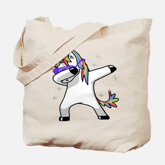unicorn dabbing Tote Bag