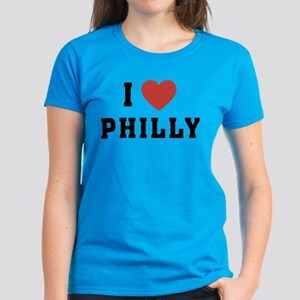 I Love Philly Women's Dark T-Shirt