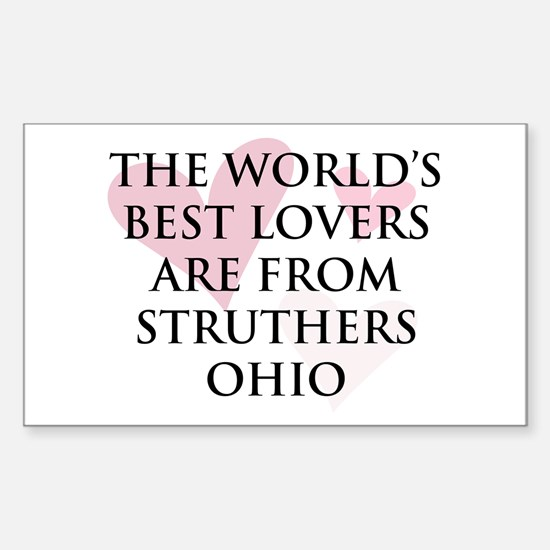 Struthers Lovers Rectangle Decal