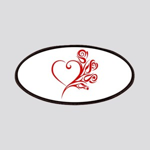 Red Rose Heart Patch